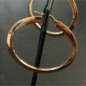 Jewelry - 14k Gold Large Hoop Earrings